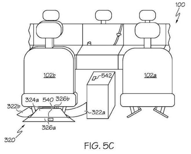 丰田车座椅底部收集装置